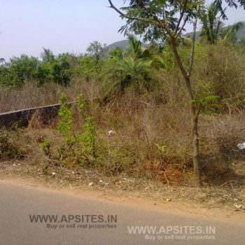 Independent site for sale 265 sqyd s/f from duvvada station 1 km @ rs 6,500 clear title